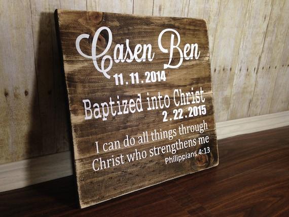 Baptism Wood Sign Dedication Wood Sign Baptism Decor