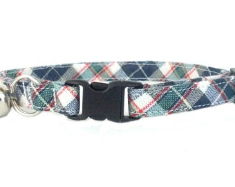 Preppy Bryant Plaid Cat or Kitten Breakaway Safety Collar