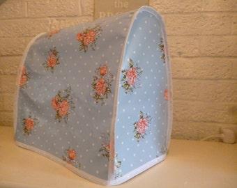 shabby chic polka dot floral rose sprig pvc food mixer cover kmix kitchenaid andrew james. Black Bedroom Furniture Sets. Home Design Ideas