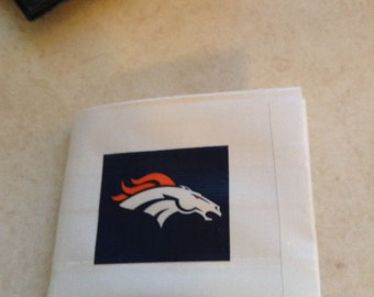 Broncos wallet made of duct tape