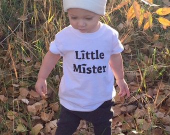 Toddler and baby Little mister T-shirt/onesie.