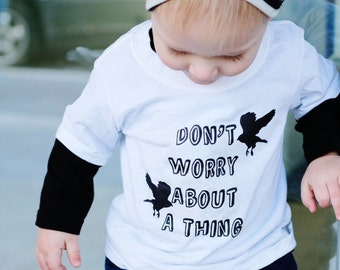 Don't worry, bob marley, toddler/baby shirt.
