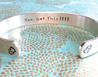 Inspirational gift | Gift for Change | Intention Bracelet | You Got This!!!! |Custom Hand Stamped Bracelet by MadeByMishka.com