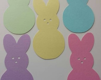 Easter Peeps Paper Cutout 4inch