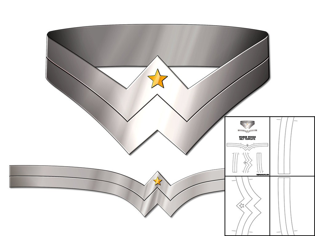Wonder Woman Crown Template