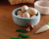 Felted wool bowl, natural toy, Waldorf inspired, open ended play, spring decor, Easter basket