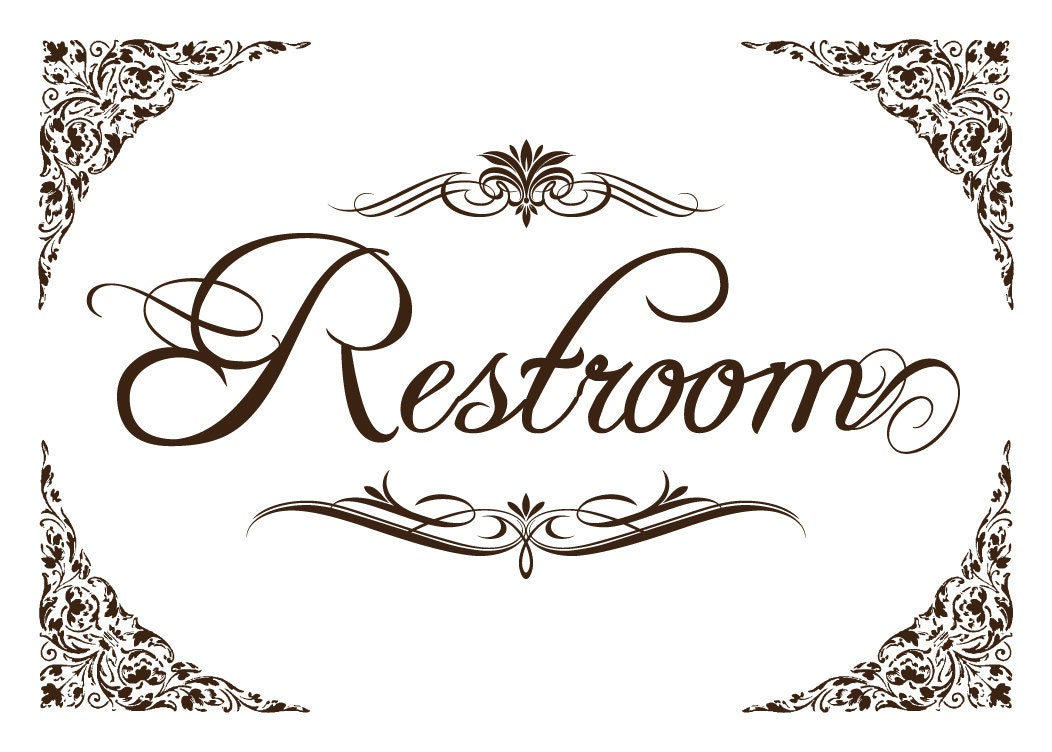 photo about Printable Restroom Signs identify Printable Restroom Indications Air Media Structure