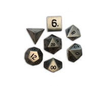 FULL Metal RPG D20 Dice Set Norse Foundry 5 Colors to Choose From