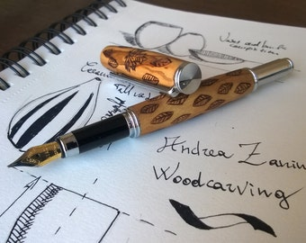 leaves fountain pen