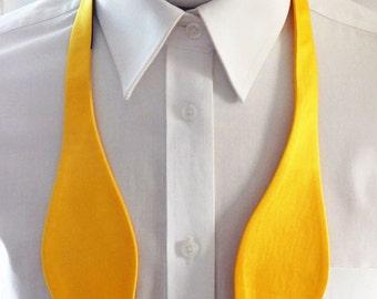 Mens Bowtie Poppy Yellow Self Tie Bow Tie