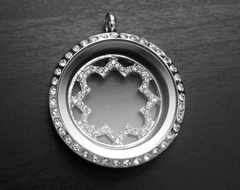 Window Plate for Floating Lockets-Fits Large Floating Lockets-Gift Ideas for Women