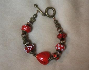 Valentine Heart Chunky Bracelet