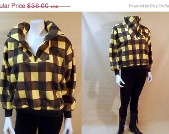 Temp Sale 80s Buffalo Check Plaid Jacket Laf Laf 90s