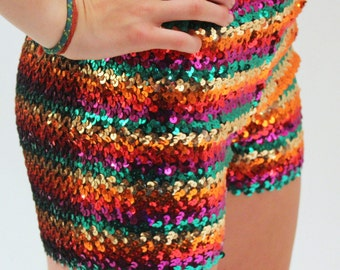 Long Sequins Hot Pants