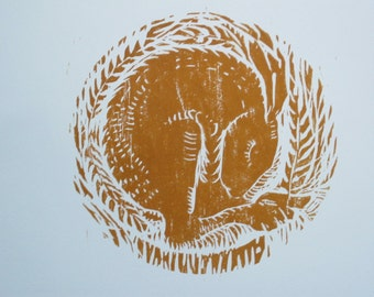 Dreamer - An Original Woodcut print