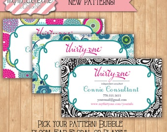 Thirty one Business Card // Digital File // Direct Sales Business // Bubble Bloom // Fab Floral // Playful Parade