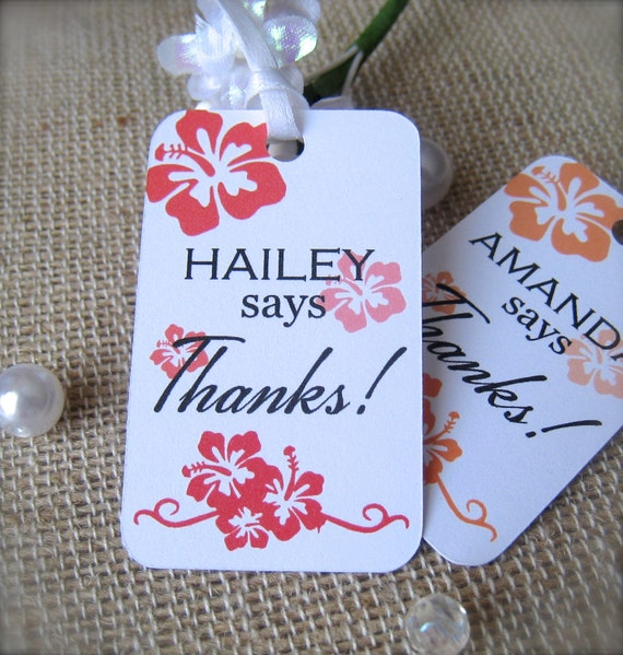 Bridal Shower Favor Tags Thank You Tags Party Favor Tags