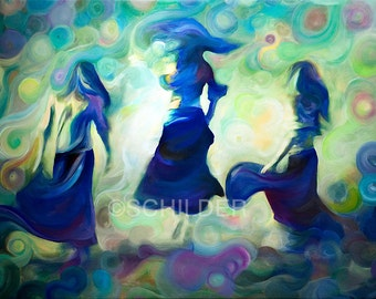 "Soul Dancers 24"" x 36"" Giclee Print on Canvas (Gallery Wrap ready for hanging)."