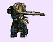 Final Fantasy Sephiroth Perler Magnet! featured image