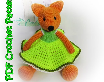PDF Crochet Fox Pattern - Amigurumi PDF Pattern – Crochet Plush Toy - Stuffed Animal Tutorial