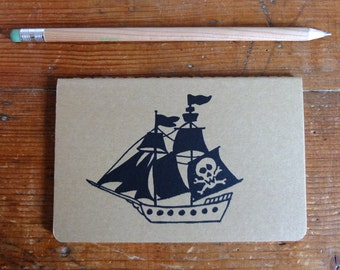 Lined, Pocket Moleskine Notebook, Pirate Ship