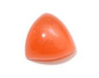 Moonstone Orange Trillion Cabochon Loose Gemstone 1A Quality 8mm TGW 1.55 cts.