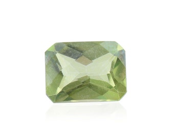 Mystic Green Topaz Loose Gemstone Octagon Cut 1A Quality 7x5mm TGW 1.00 cts.
