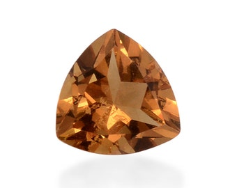 Alexite Autumn Synthetic Color Change Loose Gemstone Trillion Cut 1A Quality 9mm TGW 2.30 cts.