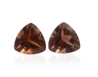 Mocha Scapolite Trillion Cut Set of 2 Loose Gemstones 1A Quality 5mm TGW 0.60 cts.