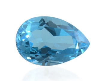 Blue Topaz Pear Cut Loose Gemstone 1A Quality 12x8mm TGW 3.15 cts.
