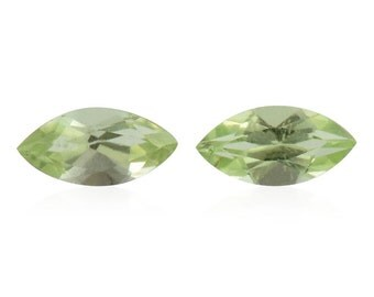 Hebei Peridot Set of 2 Loose Gemstones Marquise Cut 1A Quality 6x3mm TGW 0.35 cts.