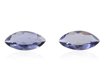 Catalina Iolite Loose Gemstones Set of 2 Marquise Cut 1A Quality 10x5mm TGW 1.30 cts.