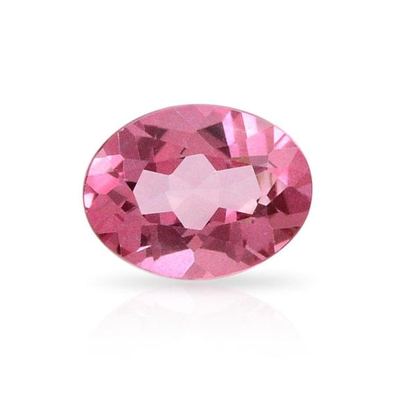 mystic pink coated topaz oval gemstone by