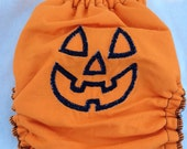 Jack o'Lantern - fitted cloth diaper