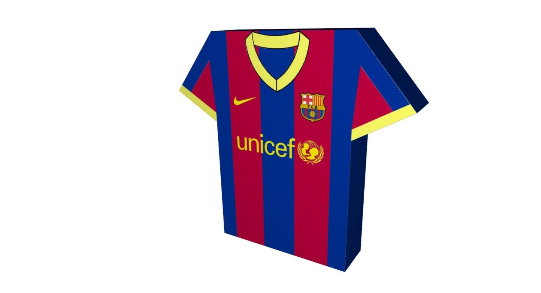 barcelona jersey clipart