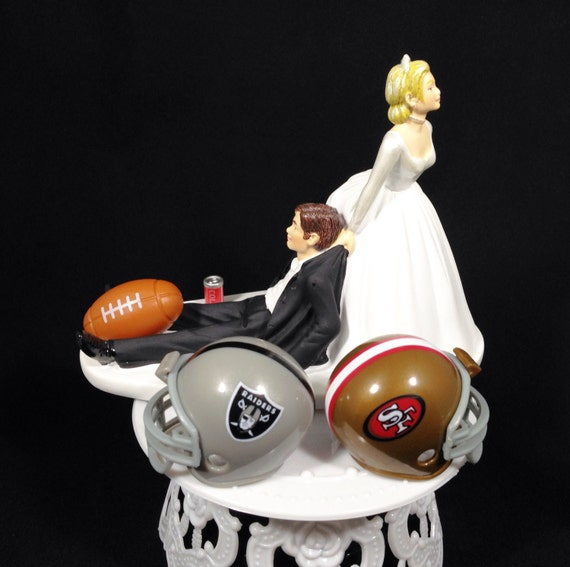 nfl wedding cake toppers wedding cake topper nfl vs groom by 17840