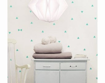 Mint triangle wall decals, triangles wall stickers, wall decor