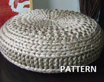 Knitted Extra Large Pouf Pattern, Poof, Knitting, Ottoman, Footstool, Home Decor, Pillow, Bean Bag, Pouffe, Floor cushion