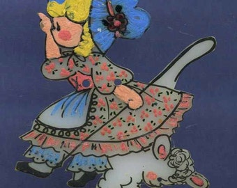 Button, Little Bo Peep, Nursery Rhyme Studio, Painted signed