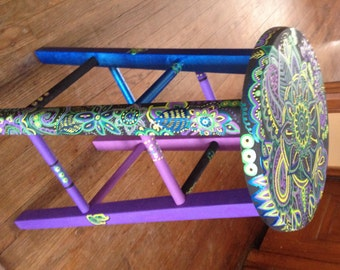 Hand Painted bar stool