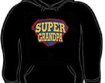 Hoodies: Super grandpa hoodie sweatshirt grand father