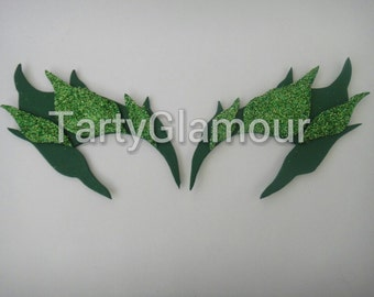 Poison Ivy Eyebrows with Glitter Leaves, Poison Ivy Eye Mask, Mask, Eyebrows, Cosplay, Poison Ivy Costume, Comic Con, Halloween, Fairy, Elf