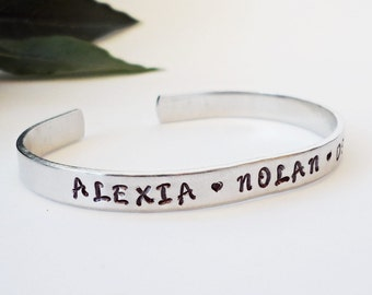 Custom Bracelet Cuff - Personalized Bracelet - Custom Cuff - Mom Gift - Personalized Name Bracelet - Baby Name Bracelet - Kids Name Bracelet
