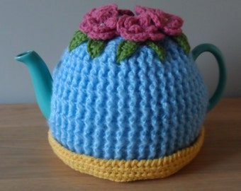 Pattern for a crochet treble rib tea cosy (delivered by email in PDF format)