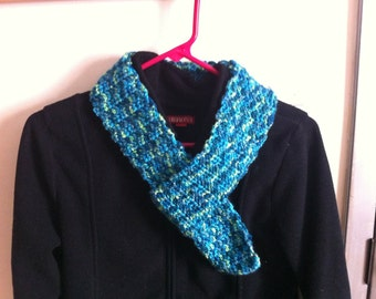 Blue and Green Speckled Scarf