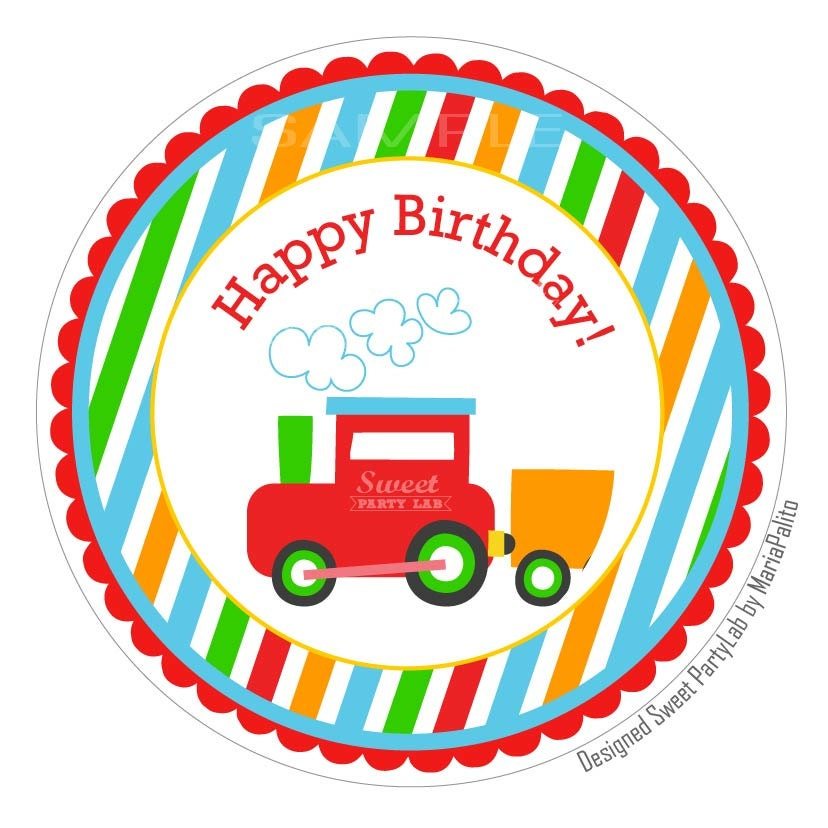 Printable Transportation Gift Tags Happy Birthday By