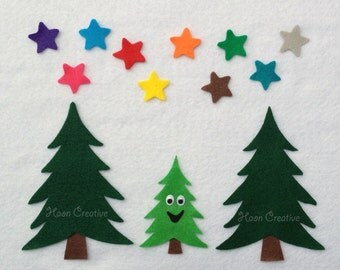 Christmas Songs Felt Story / Flannel Board Set - I'm a Little Pine Tree and 10 Little Stars