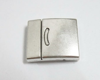 3pcs 20x2mm Flat magnetic clasp Strong magnet clasp For Flat or multi strand leather