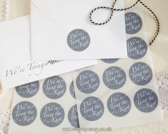 Tying the Knot Sticker 40mm (1 1/2in), Wedding Invitation Seals, Envelope Seals, Labels, Parcel Stickers -  PSS051