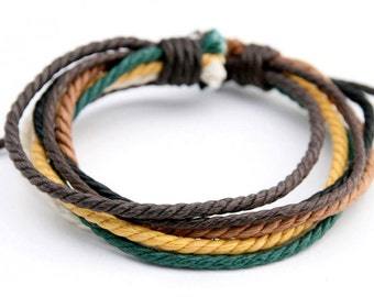 Hemp Bracelet Natural Handmade Surfer Bracelet Men's Women's Friendship Braclet  HB-18